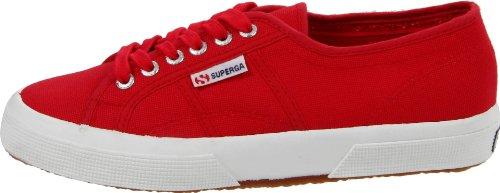 de Red para de hombre Superga deporte Zapatillas Maroon algodón S7v7xO