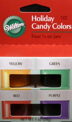 Amazon.com : Wilton Holiday Candy Colors 4-Jar set : Food Coloring ...