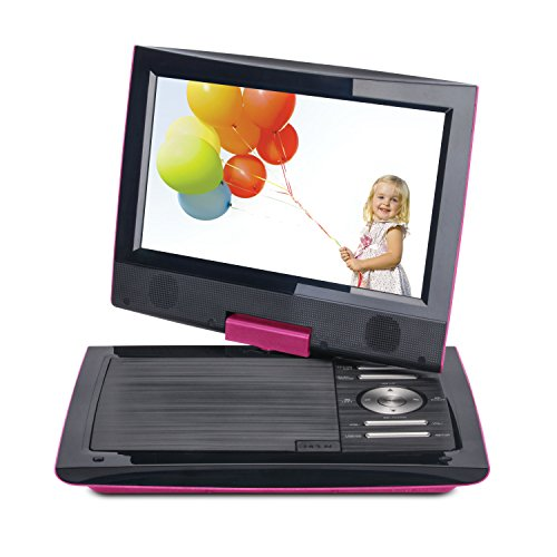 "Cinematix 70167 9"" Portable DVD Player Pink"