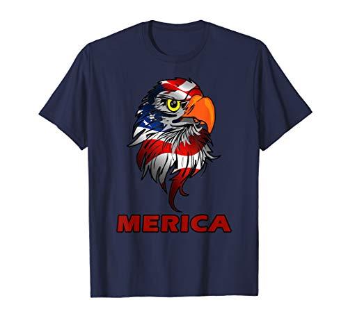 Patriotic MERICA Eagle US Patriot Flag Design - Patriot Eagle T-shirt