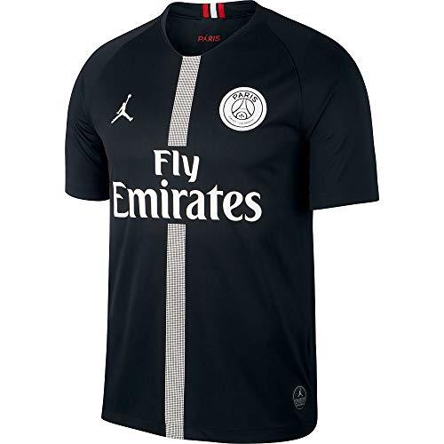 84cee38dcf41ee NIKE Paris Saint-Germain Air Jordan Men s Third Jersey 2018-2019 Black  (Medium