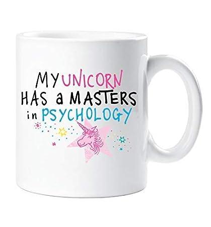 My Unicorno E Un Masters In Psicologia Tazza Funny Friend Birthday Regalo Di Natale