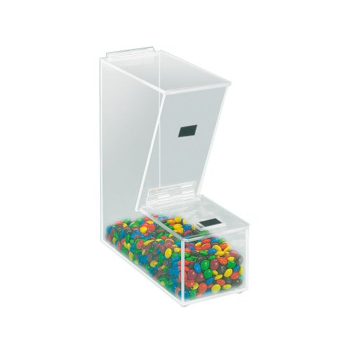 """Cal-Mil 373 Classic Large Topping Dispenser, 4"""" W x 11"""" D x 11"""" H, Clear (Case of 2)"""