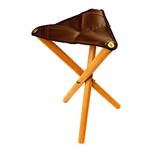 US Art Supply Portable Three Leg Wood Artist Folding Stool with Saddle Leather Seat  sc 1 st  Amazon.com : portable collapsible stool - islam-shia.org