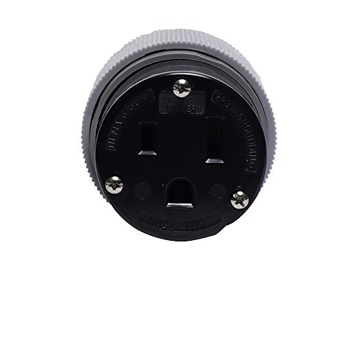 (Eaton 6709N 50 Amp 250V 6-50 Power Connector, Gray & Black)
