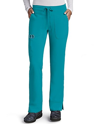 Grey's Anatomy Signature Women's 2207 3 Pocket Low Rise Scrub Pant- Teal- X-Large
