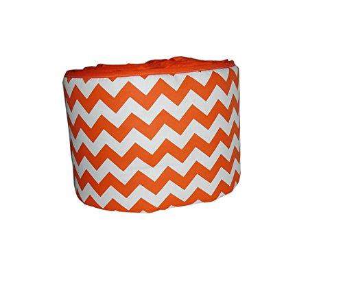 Baby Doll Bedding Chevron Crib Bumper, Orange by BabyDoll Bedding   B00R9QN7WG