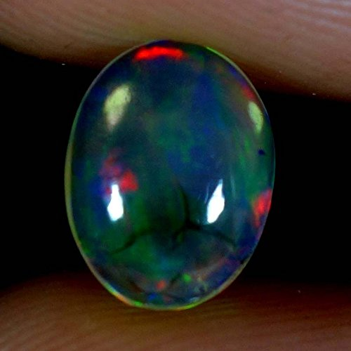 1.05Cts Natural Super Rainbow Electric Fire Ethiopian Welo Opal Oval Cab Gems