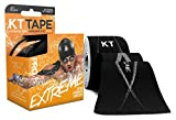KT Tape Pro Extreme Therapeutic Elastic Kinesiology Sports Tape, 20 Pre cut 10 inch Strips, 100% Synthetic Water Resistant Breathable, Pro & Olympic Choice, Jet Black
