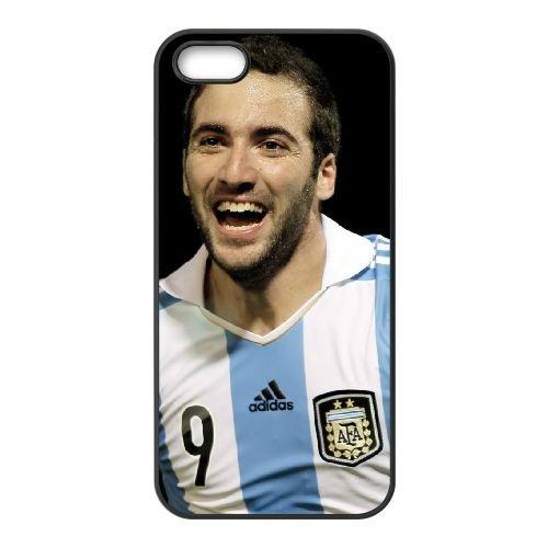 Gonzalo Higuain 002 coque iPhone 4 4S cellulaire cas coque de téléphone cas téléphone cellulaire noir couvercle EEEXLKNBC25458