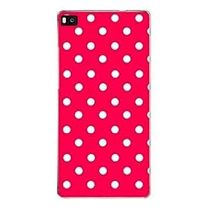 "Disagu Design Protective Case para Huawei P8 Funda Cover ""Rot Weiß gepunktet"""