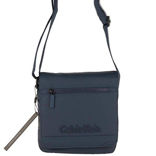 Calvin Klein - Bolso al hombro para hombre azul turquesa
