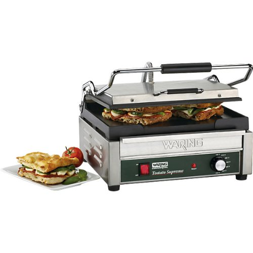 Waring Commercial WDG250 120-volt Italian-Style Panini Grill, Large by Waring