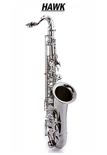 Hawk WD-S411C-NK Tenor Saxophone Nickel Finish with Case, Mouthpiece and Reed
