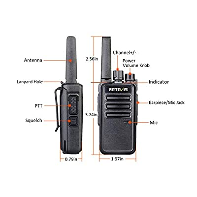 Retevis RT68 2 Way Radios Long Range UHF 16 CH VOX Rechargeable Business Walkie Talkies for Adults with Earpiece(20 Pack): Car Electronics