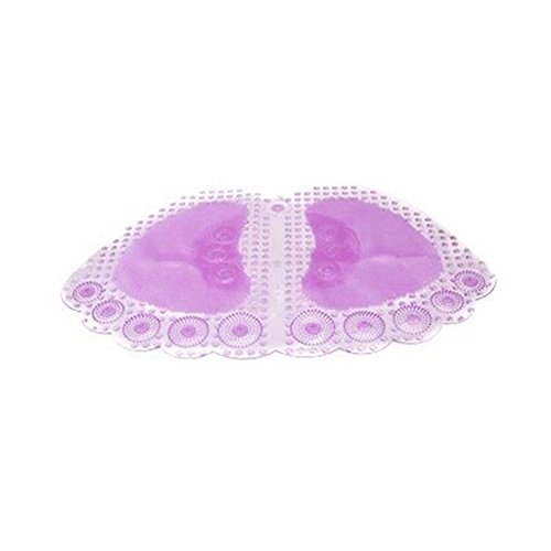 Baifeng Purple Anti-slip Bath Mats, Lovely Feet Style Non-slip Shower Mat, Bathroom Toilet Pad, Floor Mats, Bathroom Transparent Rug Carpet for Children & Adults- 60 x 35 cm by Baifeng