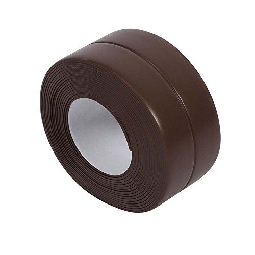 KaLaiXing Tub And Wall Caulk Strip. Kitchen Caulk Tape Bathroom Wall Sealing Tape Waterproof Self-Adhesive Decorative Trim--brown by KaLaiXing