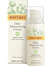 Burt's Bees Daily Face Moisturizer Cream for Sensitive Skin, With Cotton Extract and Aloe, 50 g