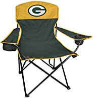 Rawlings NFL XL Lineman Tailgate and Camping Folding Chair, Green, Yellow, One-Size