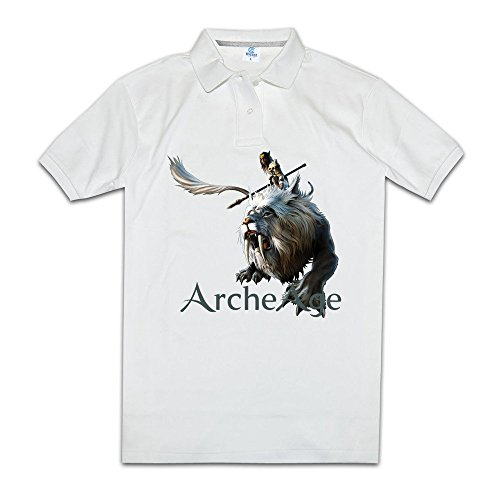 Arche Age Multiplayer Video Game Men Polo Shirts Customized Collared Shirts