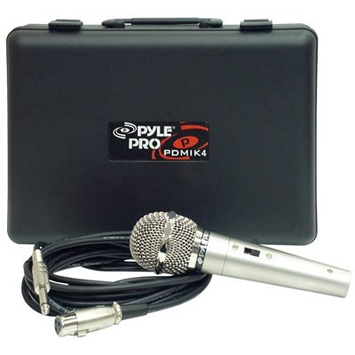 Pyle Pdmik4 Unidirectional Dynamic Microphone With 15 Cable & Carrying Case - Pyle Pdmik 4 Dynamic Microphone