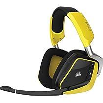 Corsair Void Pro RGB - Auriculares gaming (para PC, inalámbricos, USB, Dolby 7.1), amarillo (CA-9011150-EU)