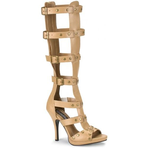 Funtasma by Pleaser Women's Gladiator Sandal Beige