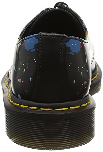 Dr. Martens 1461, Scarpe Stringate Unisex – Adulto Nero (Black Splatter Smooth)