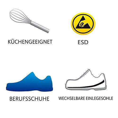 """Schürr Herren OP-Schuhe, Sandalen """"Roding"""" , Farbe: schwarz, Größe: 44"""