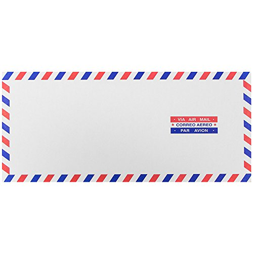 "JAM Paper #10 Airmail Business Envelopes - 4 1/8"" x 9 1/2"" - 25/pack"