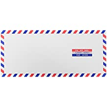 "JAM Paper #10 Airmail Business Envelopes - 4 1/8"" x 9 1/2"" - 25/pack"