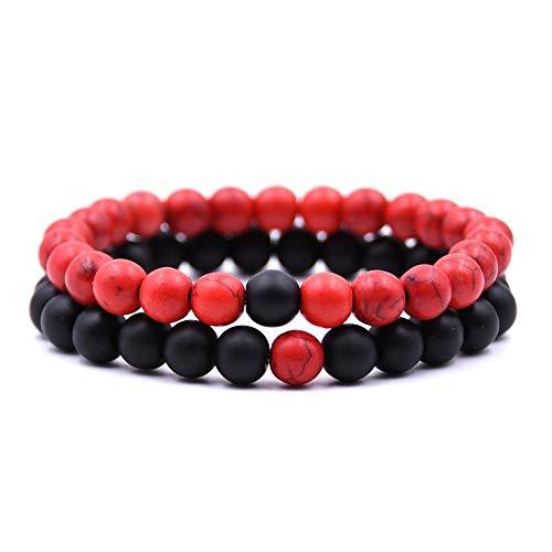Simsly Bracelet de cheville tendance pour la plage avec perle synth/étique Ajustable Pour femme et fille