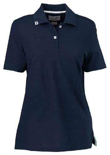 Ashworth 1148 Ladies EZ-Tech Piquà Polo-Short Sleeves T-Shirt-X-Large-Navy