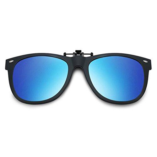 Mirror Polarized de Lunettes Mirror Ultralight HT Driver Driver BEI Bleu Myopia Clip Soleil de 1Onv8x