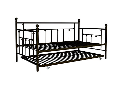 DHP Manila Metal Framed Daybed with Trundle, Twin - Bronze