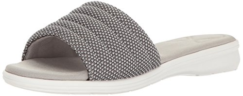 Aerosoles Women's Great Call Wedge Slide Sandal, Grey/Multi, 8 M US