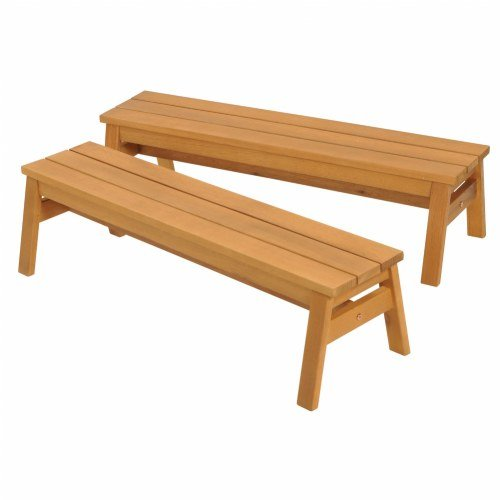 Outdoor Wooden Stacking Benches - Set of 2 by Kaplan Early Learning Company
