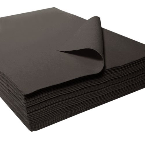 "[Acrylic Felt Sheet 9"" X 12"": 25 PCS, Black] (Elf Costume Made Out Of Felt)"