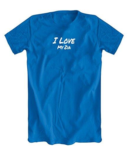 Shirts You Love I Love My Zia T-Shirt, Men's Royal Blue, - Love I Zia