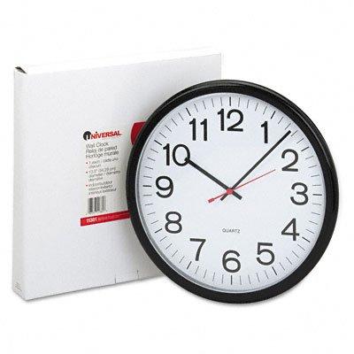 Universal indoor outdoor clock 13 1 2 inch black 11381 for Garden treasures pool clock