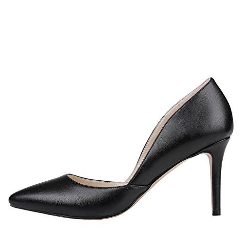 EKS - Zapatos de Tacón Mujer Negro - Schwarz-Matt