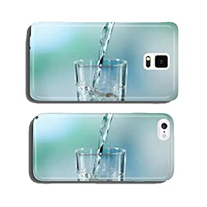 Pouring water from bottle on glass on light background cell phone cover case iPhone5