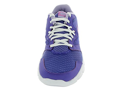Girls Nike Flex Experience 3 Running Shoe (GS) Prpl Hz/Lt Mgnt/Hydrngs/White DPXlps