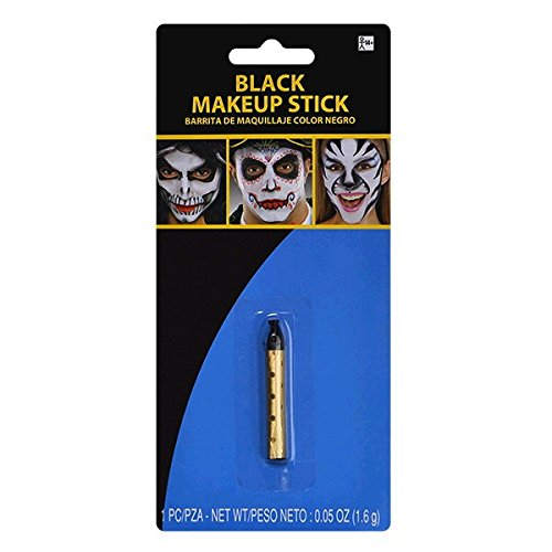 Amscan Black Face Paint Style Grease Makeup Stick, 0.05 Ounc
