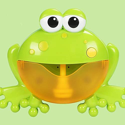 Dyda6 Bad-Toys, Baby-Fun-DuschToys, BAB-Bad-Bubble-Toys, Auto Octopus Kids Bath Bubble Machine mit Musik(Green Frog)
