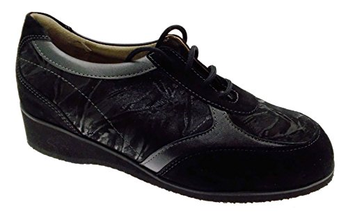 Lacets Chaussure Large L805a Noirs Article Les Femme orthopédique Extra qUOwa