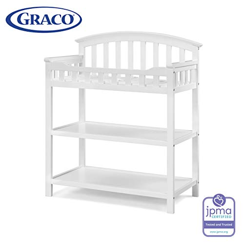 Check Out This Graco Changing Table with Water-Resistant Change Pad and Safety Strap, White, Multi S...