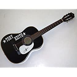 Toby Keith signed Country music legend acoustic guitar w/coa Interstates Tour