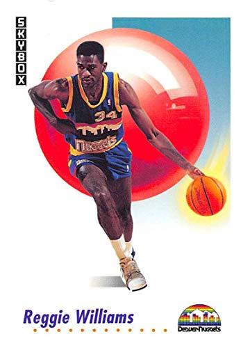 (1991-92 SkyBox Basketball #75 Reggie Williams Denver Nuggets Official NBA Trading Card)