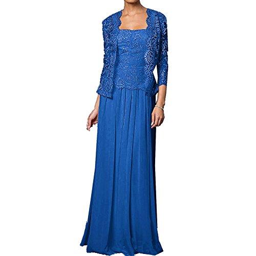 Hsd Mère De La Dentelle De La Robe De Mariée Longues Robes Formelles Avec Le Bleu De Veste